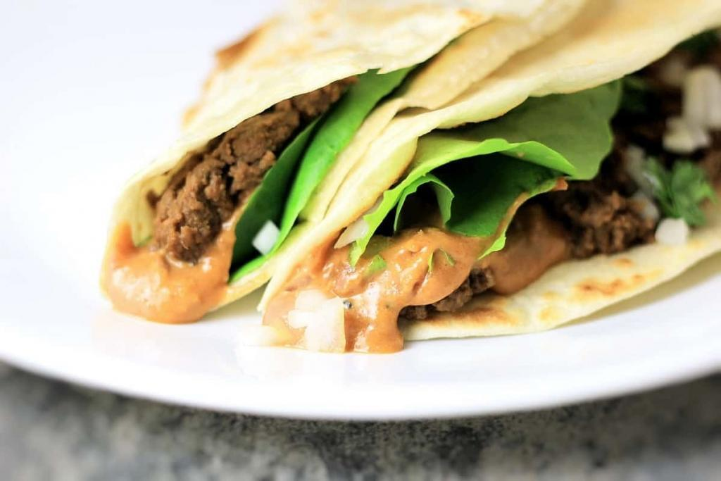 Korean Mexican Taco Fusion, the best of both worlds, savory, spicy, rich and yum!
