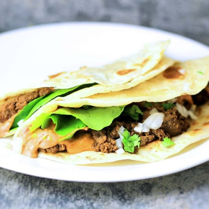 Korean Mexican fusion comes together in this easy taco with ssamjang sour cream sauce.