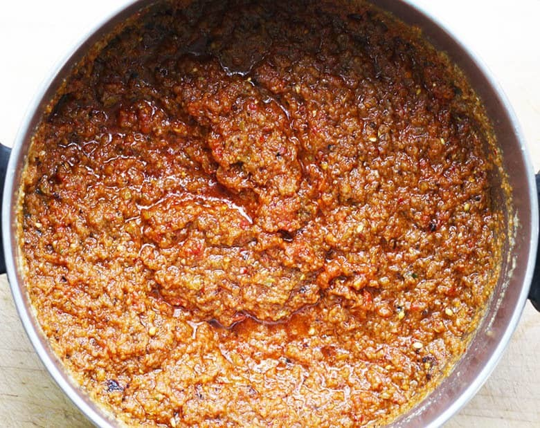 Shito Sauce Recipe, Ghana's Pepper Sauce. This tasty marinade and sauce recipe is a slow food Ghana recipe. Made with onions, peppers, garlic, ginger, dried fish, tomatoes and spices. Use this as both a sauce and marinade on everything! I show you how to use Shito Sauce with BBQ chicken, Happy Summer!
