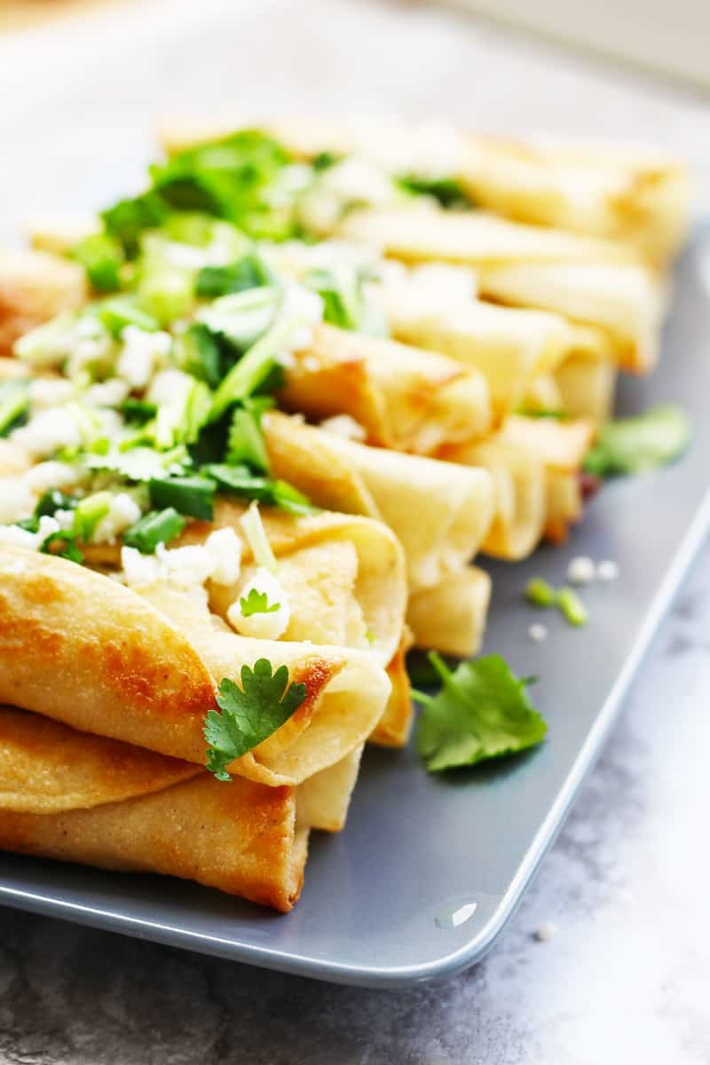 Easy Traditional Mexican Chicken Flautas Recipe Fusion Craftiness
