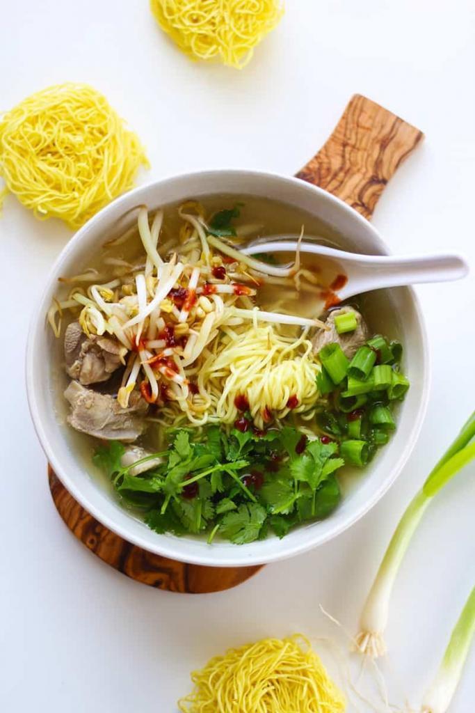 A bowl of Pho soup.