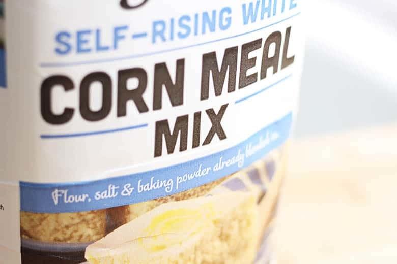 A bag of corn meal mix.