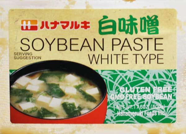 Miso paste label.
