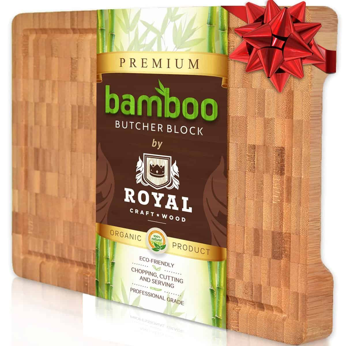 Thick End Grain Cutting Board - Butcher Block for Kitchen with Juice Groove and Handles by Royal Craft Wood - Walmart.com