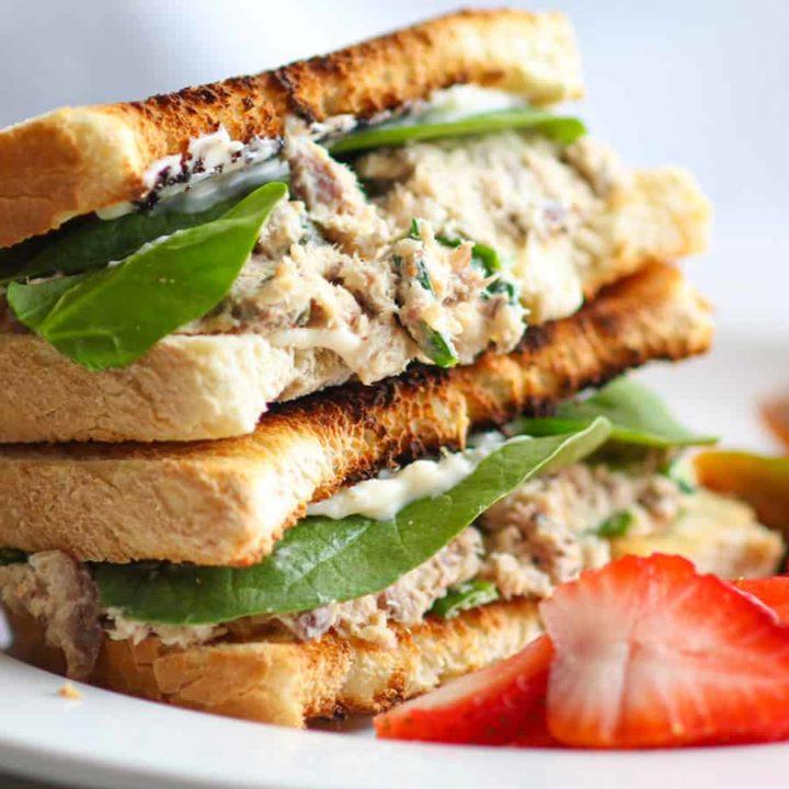 Sardine salad sandwich.