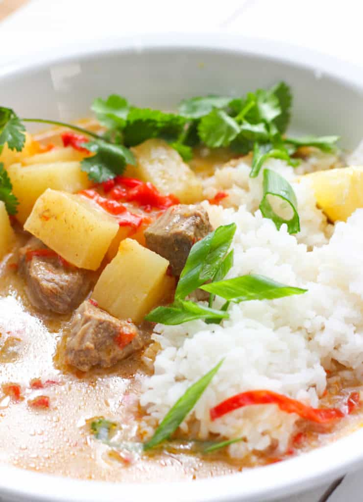 Yellow Curry with rice.